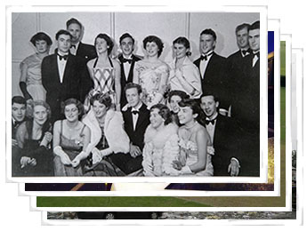 Photographs of students and staff of University of Canterbury Halls of Residence