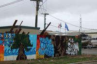 A photograph of street art on Dyers Pass Road at t...