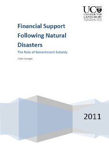 Financial Support Following Natural Disasters: The Role of Government Subsidy