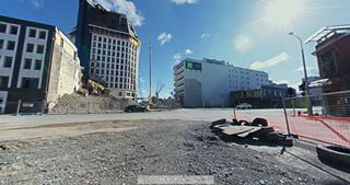 Focus360 Panorama: Manchester Street and Cashel Street, 23 August 2012