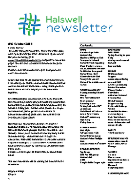 The Halswell Community E-Newsletter, October 2013