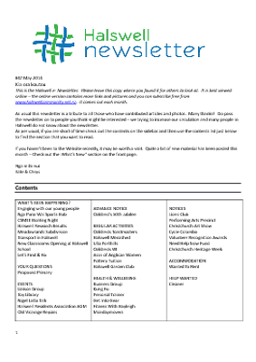 The Halswell Community E-Newsletter, May 2014