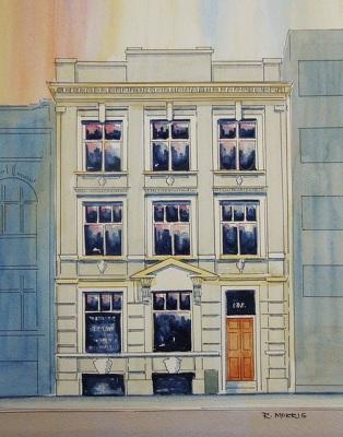 Raymond Morris's painting, '127 Lichfield Street, Christchurch'