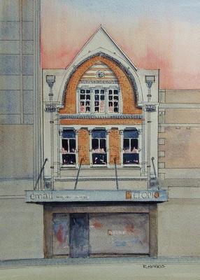 Raymond Morris's painting, '751 Colombo Street'