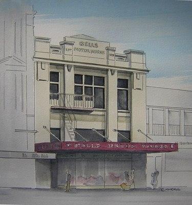 Raymond Morris's painting, 'Bell Motor Works, 110 Lichfield Street'