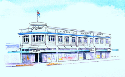 Raymond Morris's painting, 'Blackwells Department Store'