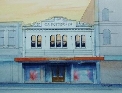 Raymond Morris's painting, 'C.F. Cotter Ltd, 158 High Street'