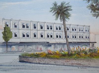 Raymond Morris's painting, 'C1 Cafe, 152 High Street'