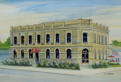Raymond Morris's painting, 'Carlton Hotel, Bealey Avenue'