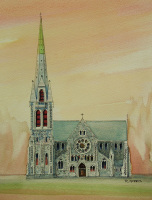 Raymond Morris's painting, 'Christ Church Cathedral 1'