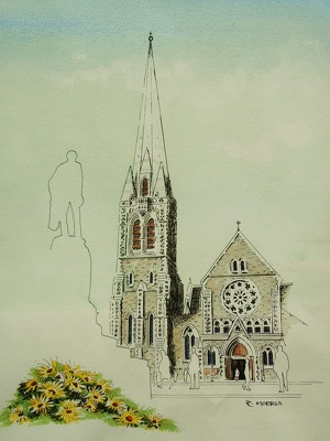 Raymond Morris's painting, 'Christ Church Cathedral 2'