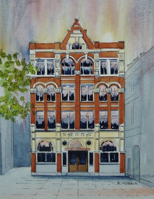 Raymond Morris's painting, 'Christchurch Star, 56 Cathedral Square'