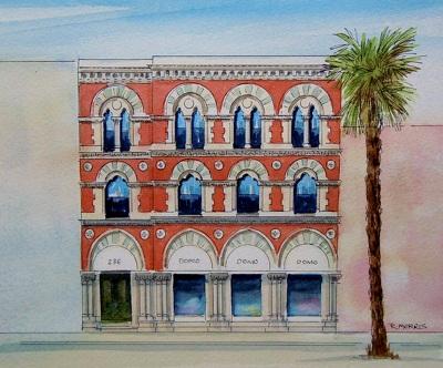 Raymond Morris's painting, 'Domo Store, 236 Tuam Street'