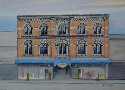 Raymond Morris's painting, 'Guthrey Centre, Cashel Mall'