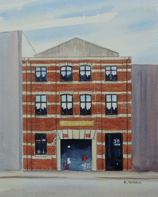 Raymond Morris's painting, 'Henry Berry and Co, 30 Bedford Row'