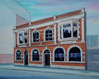 Raymond Morris's painting, 'Mike Pero House, 167 Hereford Street'