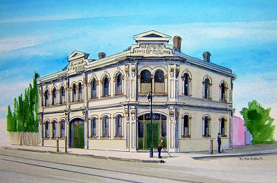 Raymond Morris's painting, 'Oxford Family Hotel'
