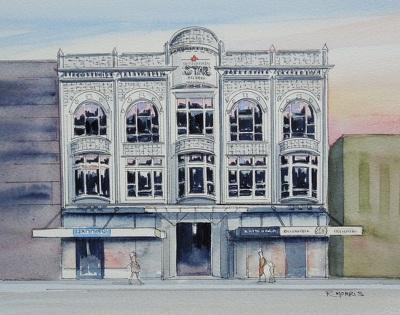 Raymond Morris's painting, 'Southern Star Building, DIC'
