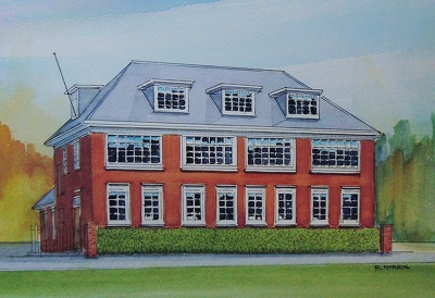 Raymond Morris's painting, 'Statham House, Cathedral Grammar School'