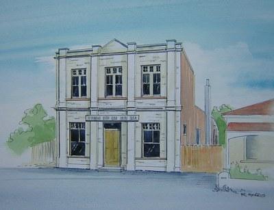 Raymond Morris's painting, 'Sydenham Senior Citizens Friendly Society'