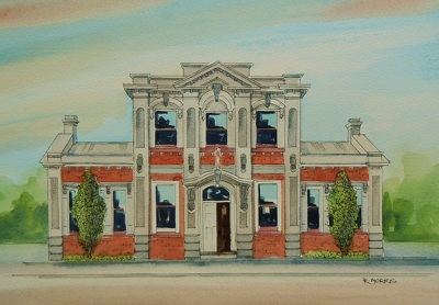 Raymond Morris's painting, 'Woolston Community Library, Ferry Road'