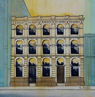 Raymond Morris's painting, '111-113 Lichfield Street'