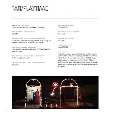 Christchurch: The Transitional City Pt IV, pages 12-13: Tati/Playtime