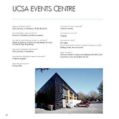 Christchurch: The Transitional City Pt IV, pages 240-241: UCSA Events Centre