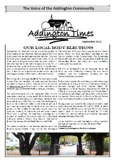 The Addington Times, September 2016