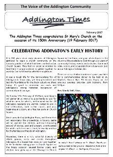 The Addington Times, February 2017