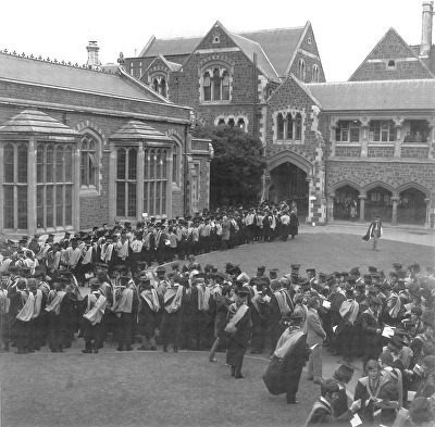 1972 - Photograph of Graduation in the Quad