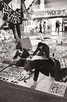 1980 - Photograph of Protest Preparation