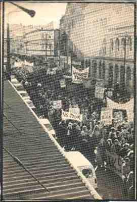 1981 - Photograph of Anti-tour Protestors