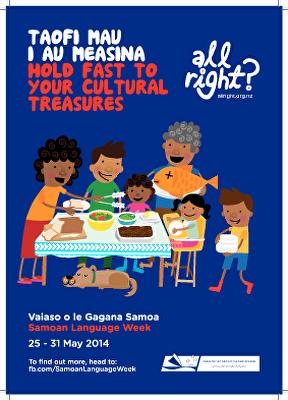 All Right? Pasifika: Samoan Language Week Poster