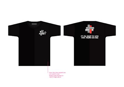 All Right? Pasifika: Pacific Health T-Shirt Mock-up