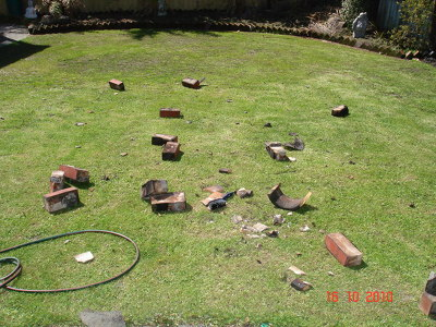 Bricks fallen from a chimney at a residential property (2)