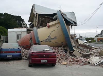 Cars Parked Near TJ's Kazbah During the Christchurch Earthquake